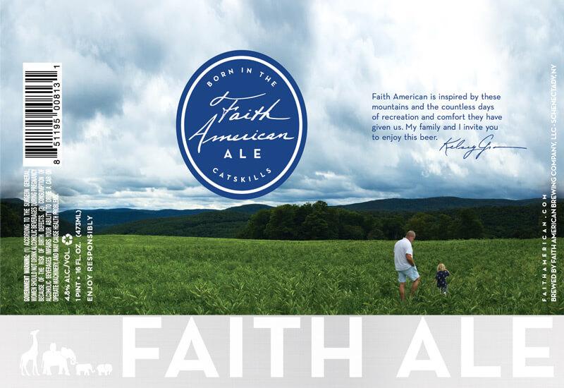 Faith American Ale Pint label