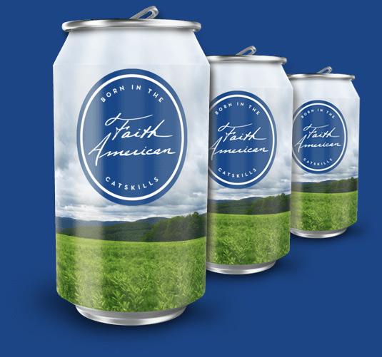 Faith American beer cans