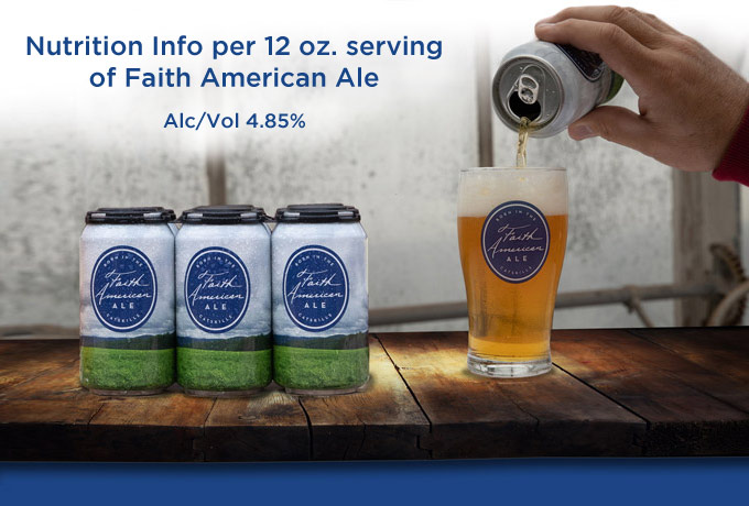 nutritional info Faith American Ale Alcohol volume 4-85 percent