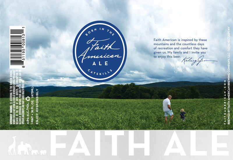 Faith American Ale Pint label