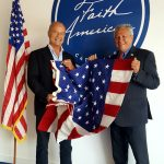 Kelsey Grammer receives an American flag from a State Senator